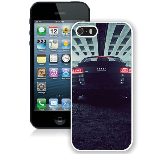 Coque,Fashion Coque iphone 5S Noir Audi R8 Back blanc Screen Cover Case Cover Fashion and Hot Sale Design