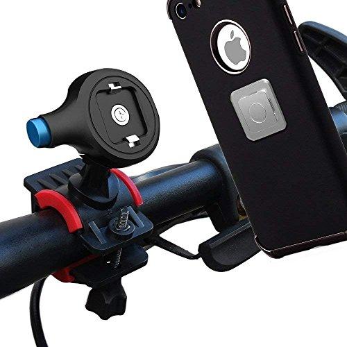Bike Phone Holder,Universal Premium Bike Handlebars,Bike Mount Cell Phone Bicycle Rack Handlebar & Motorcycle Holder Cradle Magnetic Phone Holder for All Smartphone,GPS
