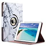 ULAK iPad 2018/2017 iPad 9.7 inch Case, iPad Case Marble, Slim Lightweight PU Leather Rotating Folio Stand Smart Case Cover with Auto Sleep/Wake Function for iPad 9.7-inch 2017/2018-Artistic Marble