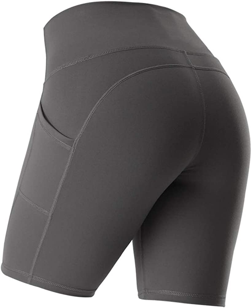 Bovldemt Womens Shorts High Waist Leggings Bike Cycling Workout Summer Yoga Pants Pockets