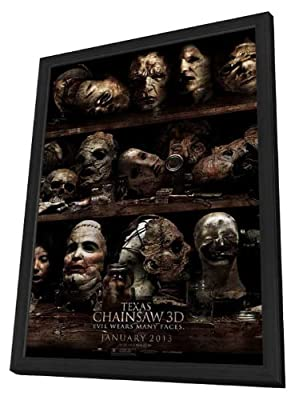 Texas Chainsaw 3D 27 x 40 Movie Poster - Style B - in Deluxe Wood Frame