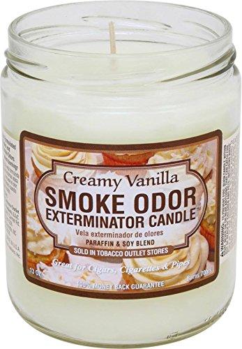 Odor Exterminator Candle Creamy Vanilla 13oz by Smokers Candle