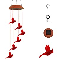 Solar Wind Chime Lights Outdoor Garden,Hummingbird LED Lights Spinners Spiral String Lamp Ornaments Hanging Outdoor…