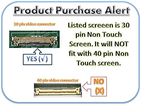 BRIGHTFOCAL New Screen for HP Stream 14-AX010NR X7S44UA Replacement 14.0 HD WXGA Slim LED Replacement LCD Screen Display