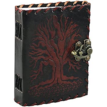 c0846d9e4a7a Fantasy Gifts 2806 Tree of Life Stitched Embossed Leather Journal 5 x 7  inches Multicolor