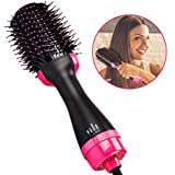Hair Dryer Brush, LIDIWEE One Step Hair Dryer & Volumizer, 3-in-1 Hot Air Negative Ion Straightener Curly Styler Brush for All Hair Type with Anti-Scald Feature