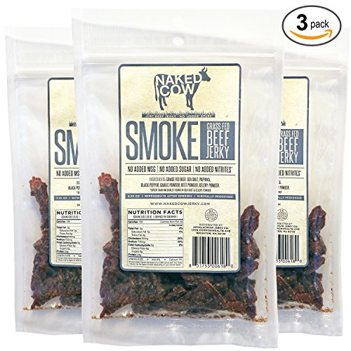 Naked Cow All Natural Grass Fed Beef Jerky - SMOKE 3 Pack