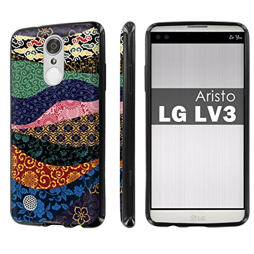 Lg  Phoenix 3   Fortune   Aristo   Lv3   Slickcandy   Black  Slim Fit Gummy Tpu Phone Case Screen Protector    Sino Patchworks