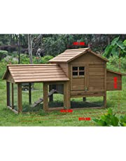 Extra Large Wooden Chicken Coop Rabbit Hutch 2 Level with Hatch