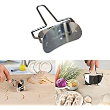 Rolling Round Cutter by Rosa's | Stainless Steel Rolling Cookie Cutter | Baking & Pastry Kitchen Tool | Ideal For Dough - Pastry - Cakes - Fondant Icing – Cake Decorating - Pies,