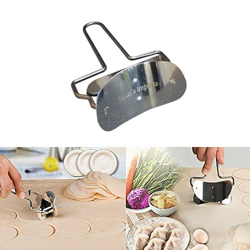 Rolling Round Cutter by Rosa's | Stainless Steel Rolling Cookie Cutter | Baking & Pastry Kitchen Tool | Ideal For Dough - Pastry - Cakes - Fondant Icing - Cake Decorating - Pies, (Rolling Pastry Cutter compare prices)