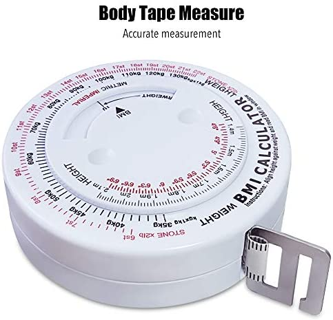 Body Measuring Tape Device with Handheld Body Fat Caliper, Plicometer Skinfold Caliper, BMI Calculator for Men and Women for Fitness and Weight Loss 3