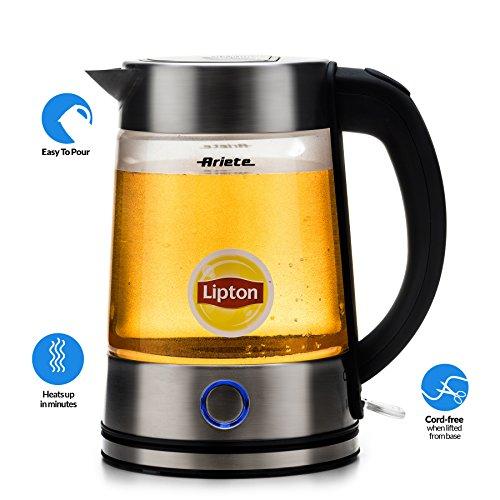 Delonghi Ariete Modern Electric Cordless Glass Tea Kettle wi
