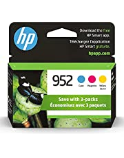 Original HP 952 Cyan, Magenta, Yellow Ink Cartridges (3-pack) | Works with HP OfficeJet 8702, HP OfficeJet Pro 7720, 7740, 8210, 8710, 8720, 8730, 8740 Series | Eligible for Instant Ink | N9K27AN