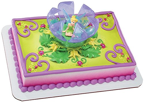 CakeDrake TINKERBELL PERIWINKLE Sisters Fairy Wing Birthday Cake Topper Decor Set -