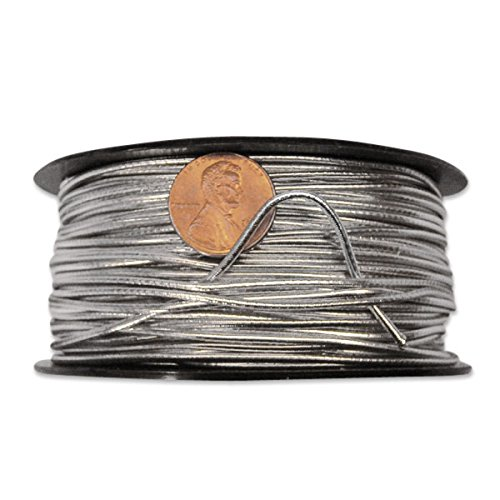 Silver Elastic Cord 2 mm X 50 Yards ()