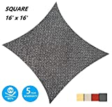 AsterOutdoor Sun Shade Sail Rectangle 16' x 16' UV