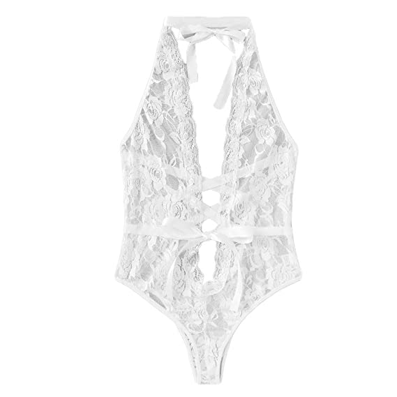 Lencería Babydoll Lace Bustier Bikini Mujeres Encajes Pijamas Sexy ...