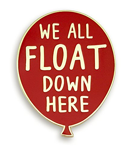 "Pinsanity Red Balloon""We All Float Down Here"" Horror Enamel Lapel Pin"