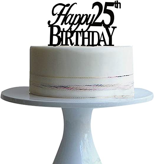 Terrific Amazon Com Happy 25Th Birthday Cake Topper For 25Th Birtday Party Birthday Cards Printable Nowaargucafe Filternl