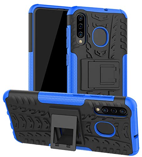 Yiakeng Samsung Galaxy A20 Case, Samsung Galaxy A50 Case, Shockproof Slim Protective with Kickstand Hard Phone Cover for Samsung Galaxy A50/A30/A20 (Blue)