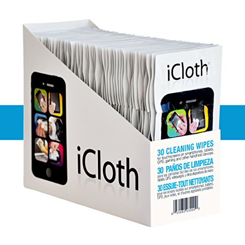 iCloth Small-Screen and Lens Cleaner | 150 wipe display pre-moistened and individually sealed - approved for optical clarity | iC3x50 by iCloth