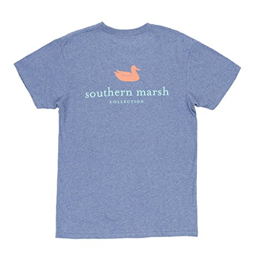 T-shirt Short Garment Sleeve Washed (Southern Marsh Authentic Short Sleeve T-shirt-Washed Slate-xxxl)