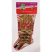 Canines Choice Christmas Stocking Filled With Rawhides 3 In. -4 In., Large