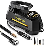 AstroAI Portable Air Compressor Pump, Digital Tire Inflator 12V DC Electric Gauge 100 PSI (Black) Best Gift for Man