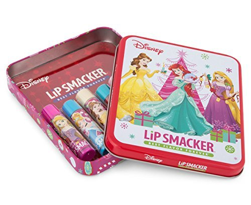 Lip Smacker Disney Princess Gift Set Tin, 6 Balms