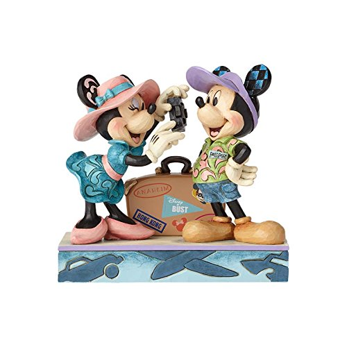 Jim Shore Disney Traditions by Enesco 4059731 Travel Mickey and Minnie Figurine