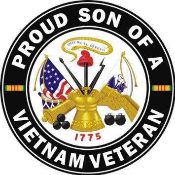 Amazon Com Us Army Proud Son Of A Vietnam Veteran Decal Sticker