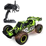 Hugine 1:16 2.4G RC Car Off Road Vehcicle High Speed Racing Monster Truck 20km/h Muscle Wheels Independent Suspension Radio Control Cars Toys (Buggy Green)