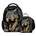 Coloranimal Toddle Kids School Small Backpack with Insulated Lunchbox 2 Pcs Set