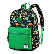 Kids Backpack for Boys, Kasqo Cute Lightweight Water Resistant Preschool Backpack Children Bookbag for Kindergarten with…
