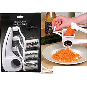 Generic YanHongUS150710-32 8yh0778yh te Carrot New Steel 3 Drums des Slicer Rotary Cheese Rotary Ch Blades Slicer less Stee Grater Stainless e Grater Chocolate Carrot New
