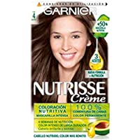 Garnier Nutrisse Creme Coloración Nutritiva Permanente, Tinte 100% Cobertura de Canas con Mascarilla Nutritiva de 4…