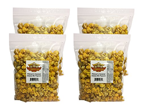Caramel Cheese Mix Popcorn, get four 3.5 ounce bags for $28.00, Chicago Style mix, made from scratch caramel.