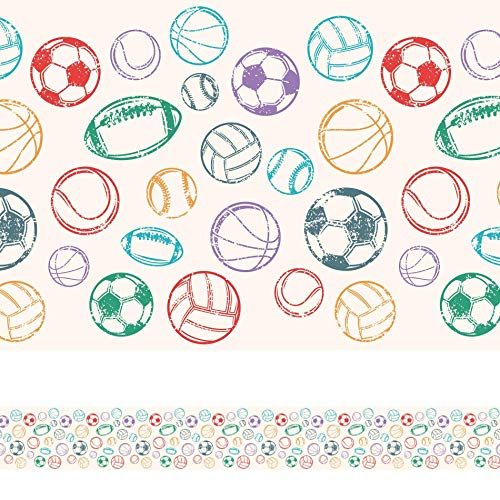 Faixa Decorativa Adesiva Infantil Bolas Coloridas 6mx15cm
