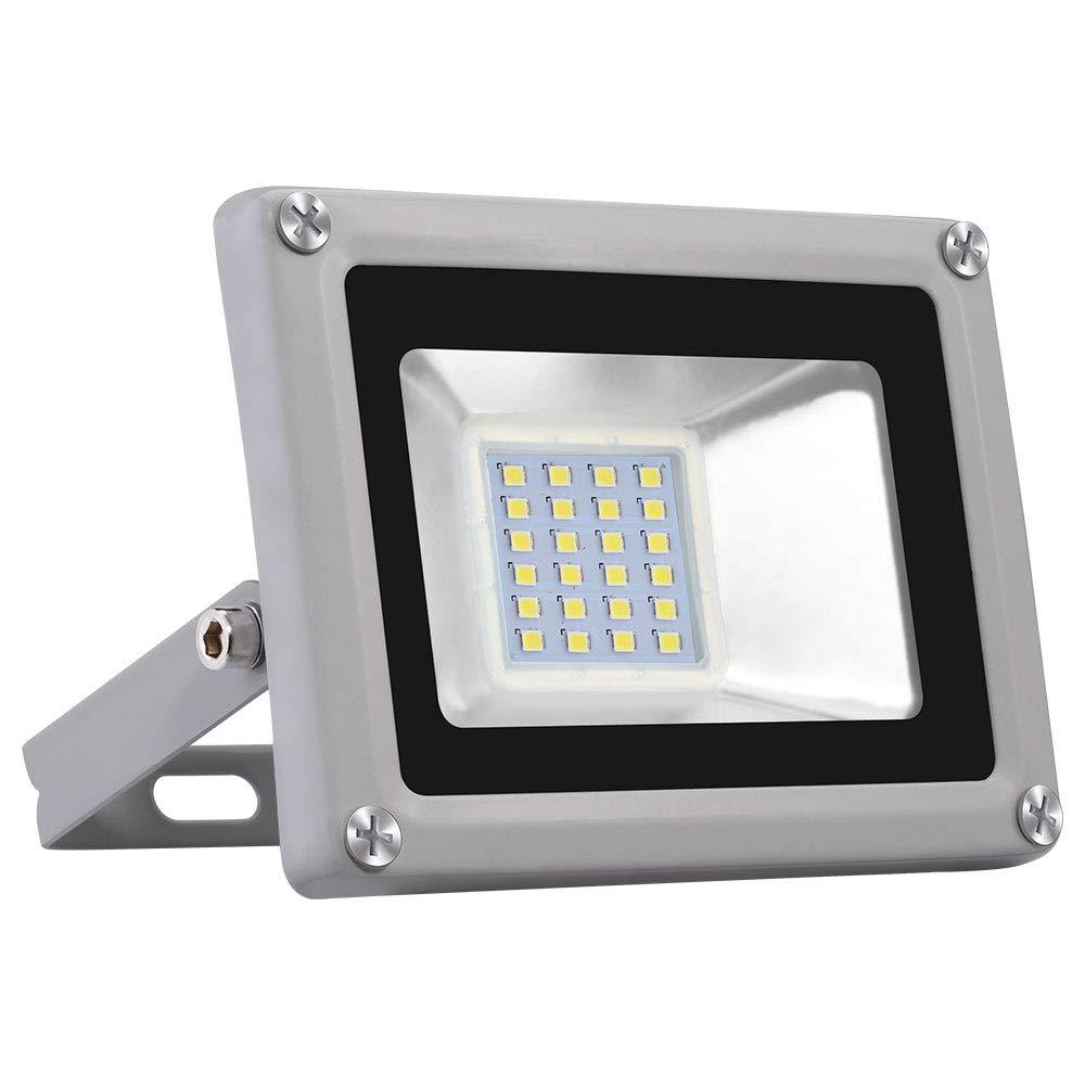 10W Floodlight Exteriores Sararoom 120/° Foco Proyector Led,Blanco frio,6000-6500K,800LM,IP65 Impermeable luz de seguridad,Floodlight,para para Patio//Jard/ín//Garaje Iluminaci/ón Exterior