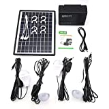 ToGames Solar Panel Power Storage Generator with LED Light Bulb USB Charger Portable Handheld Generator Power Box Home System Kit