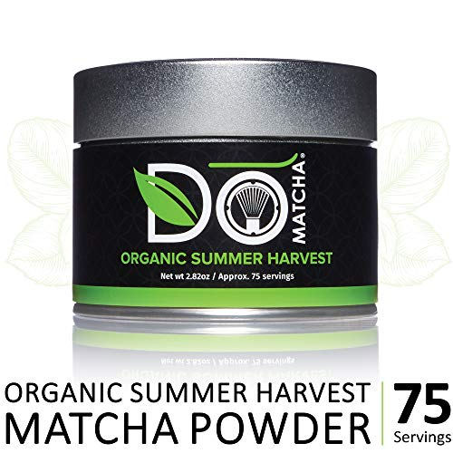 DoMatcha - Organic Summer Harvest Green Tea Matcha Powder, Natural Source of Antioxidants, Caffeine, and L-Theanine, Promotes Focus and Relaxation, 75 Servings (2.82 oz)