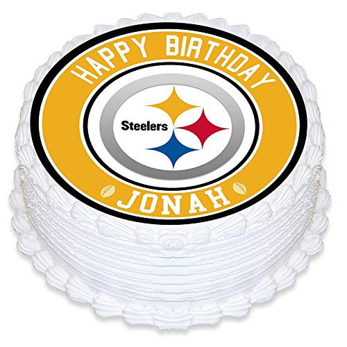 Pittsburgh Steelers Edible Image Cake Topper Personalized Birthday 10