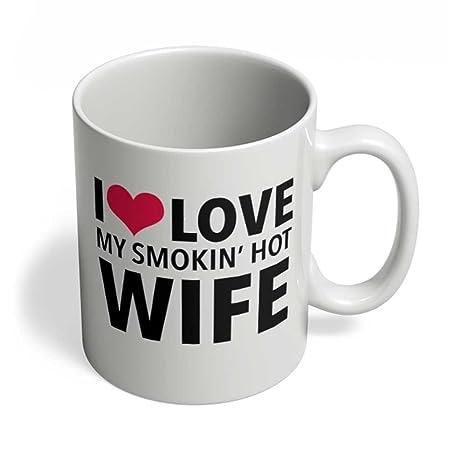 Amazon.com: HOM I Love My Somking esposa Pareja regalos para ...