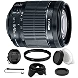 Canon EF-S 18-55mm f/3.5-5.6 IS STM Lens + 58mm UV Filter + Rear & Front Lens Cap + Tulip Lens Hood + Lens Cap + Lens Cap Holder