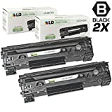 LD © Set of 2 Remanufactured Replacement High Yield Black Laser Toner Cartridges for CB436A / HP 36A for use in the LaserJet M1522/P1505 Printers, Office Central