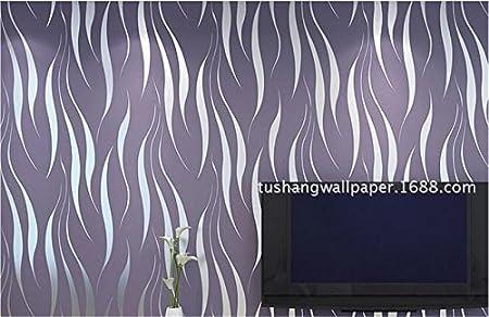Xzzj Minimalist Modern TV Background Wallpaper Bedroom Living Room Streaks Warm Thick 3D Vision Waves