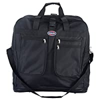 """GOFLAME 40"""" Duffel Bag with Wheel Heavy Duty Durable Spinner Suitcase Spinning Travel Luggage, Black"""