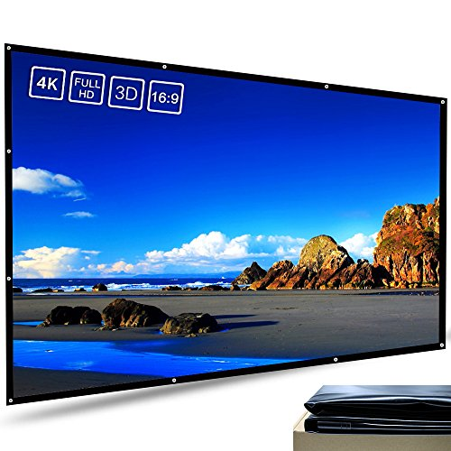 Meitoot 120 inch 16:9 Outdoor Movie Projector Screen HD Home