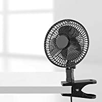 Heavy Duty Spring Clip and Rubber Grip 6-Inch Clip Fan